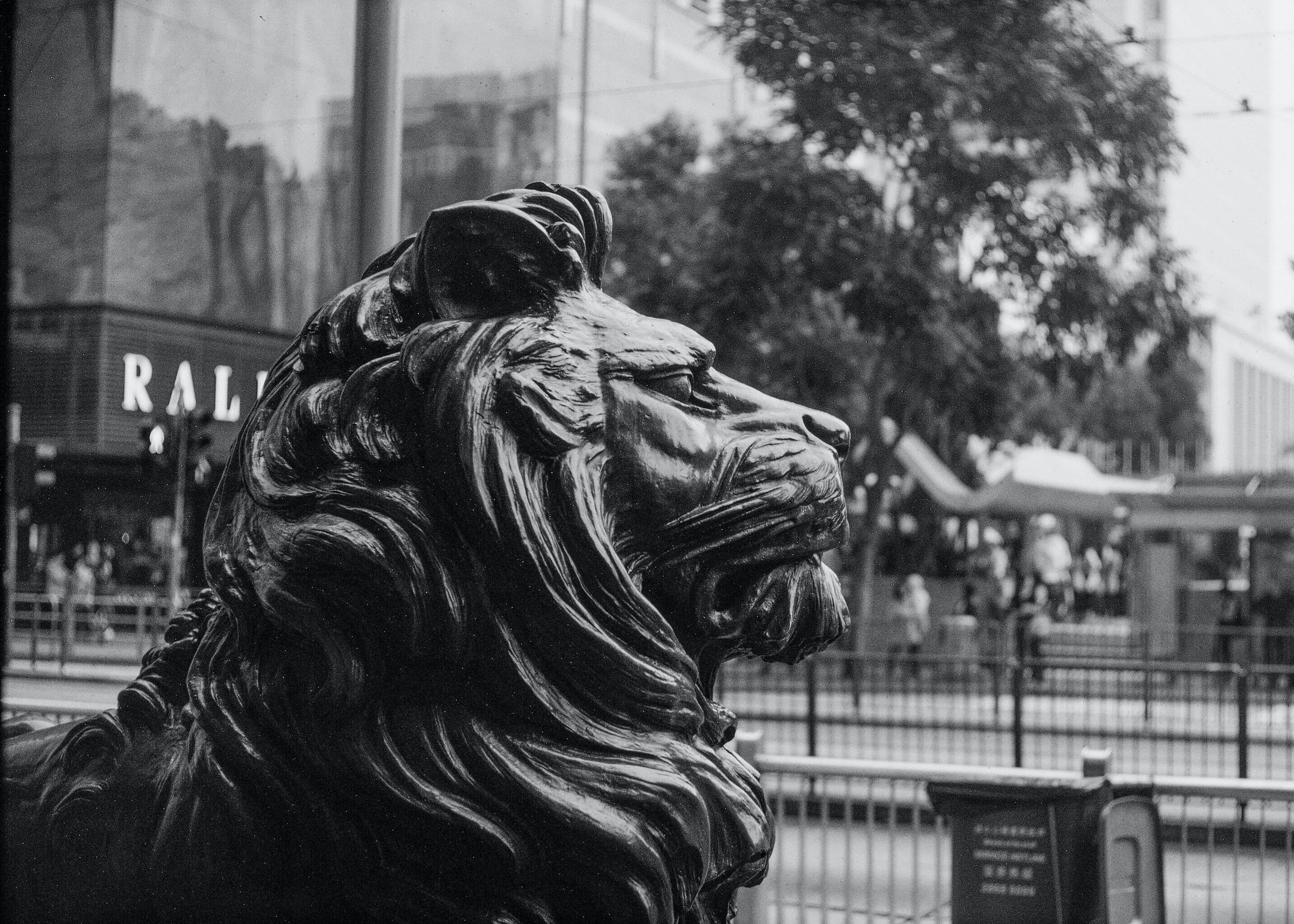 Denkmal eines Löwen